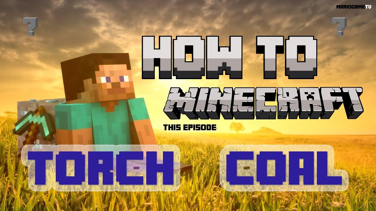 how to minecraft ep7 torch coal charcoal aesthetic lighting minecraft indoors torches