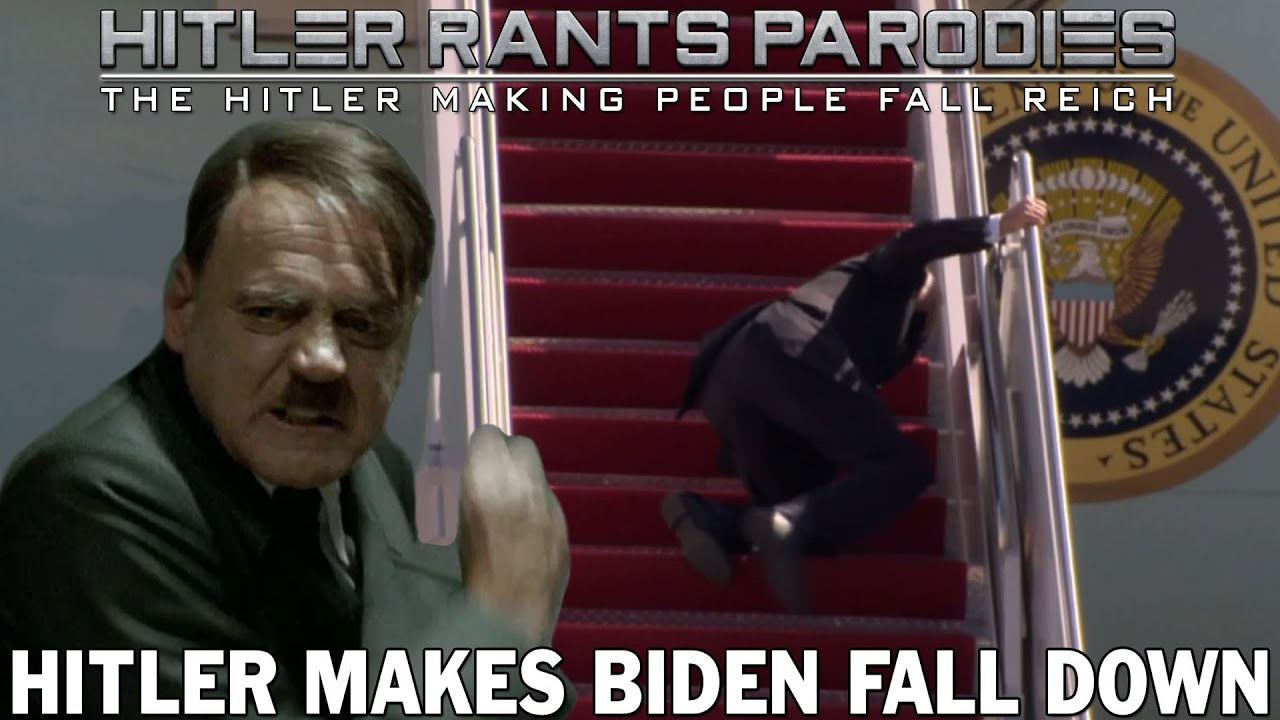 Hitler makes Biden fall down