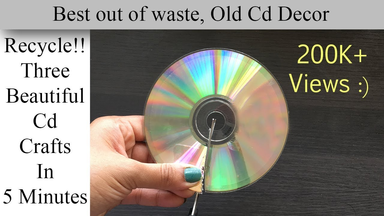 waste cd craft ideas 3 easy cd crafts in 5 minutes best out of waste 5699