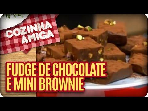 Receita: Fudge De Chocolate E Mini Brownie (opção Para O Bolo De Chocolate) - Cozinha Amiga