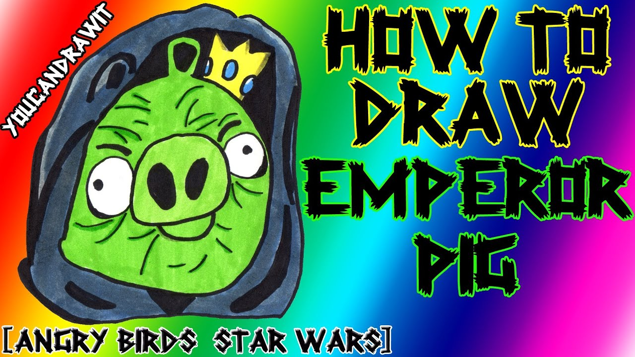 How To Draw The Emperor Pig From Angry Birds Star Wars