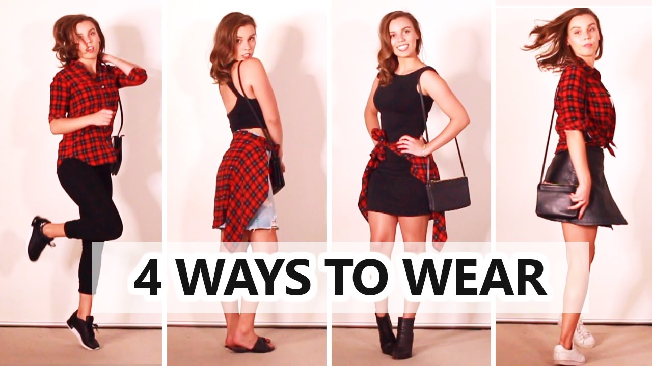 e3d23710 How to Style Flannel Plaid Shirt | Autumn and Spring! - YouTube
