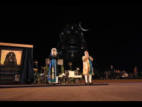 "PM Modi at Unveiling of 112 feet statue of ""Adiyogi - The Shiva"""