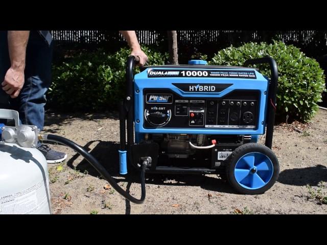 Pulsar Dual Fuel Switch & Go Generator 10,000W
