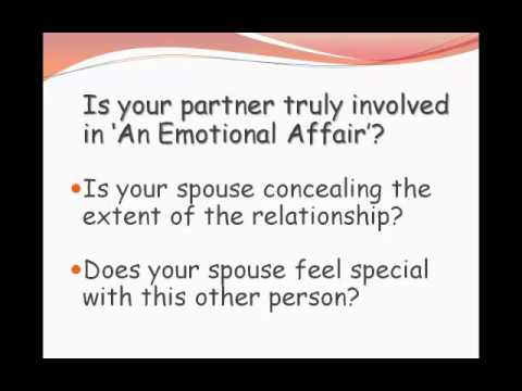 Moving on after emotional affair