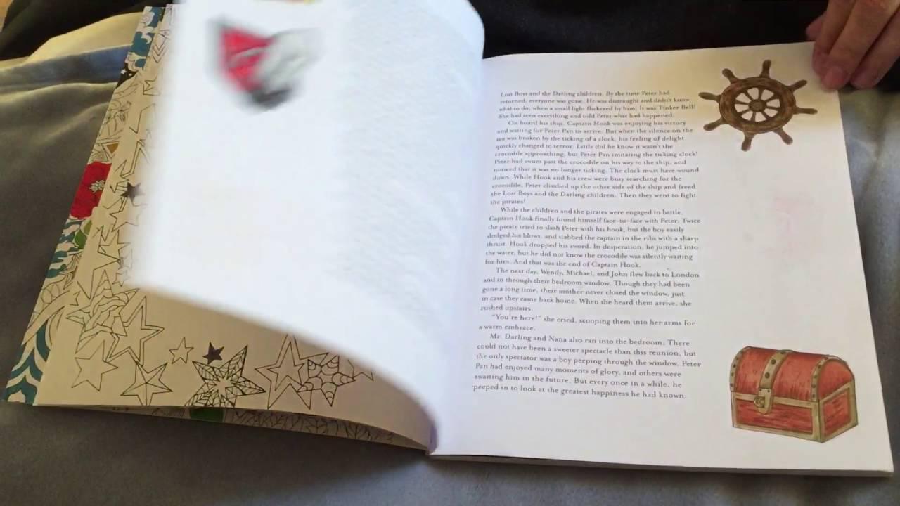 peter pan coloring book flipthrough fabiana attanasio youtube