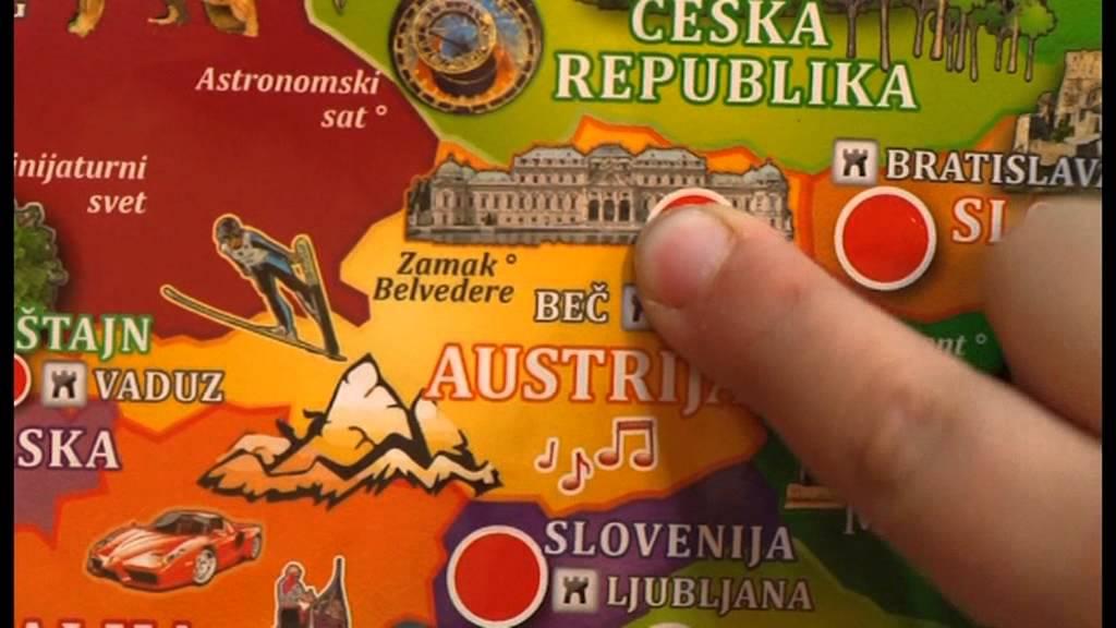 interaktivna mapa sveta za decu Mapa Evrope I POSTER