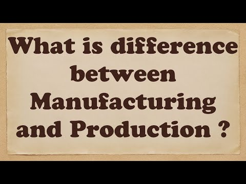 What is difference between Manufacturing and Production ?