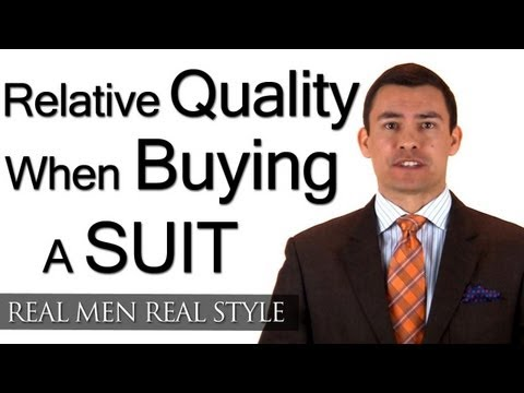 Relativity And Buying A Man's Suit - High Quality Suits Compared With Lower Quality Menswear