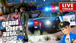 GTA 5 LSPDFR SHERIFF PATROL LIVE The Charger | GTA 5 LSPDFR Police Mod Realistic Sheriff Patrol