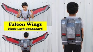 I made Avengers FALCON WINGS that fold into the Jet Pack with Cardboard | MUST WATCH DIY Craft Idea
