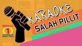 SALAH PILLIT - De'Fama Trio : Karaoke Lyric Instrumental HQ Audio
