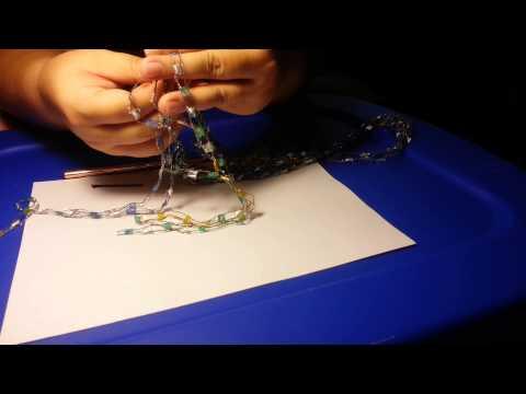 Ladder trellis yarn necklace tutorial