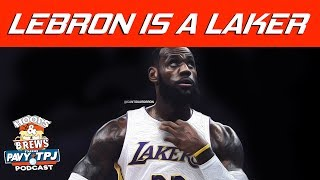 How Will LeBron Fit With Lakers ? | Hoops N Brews