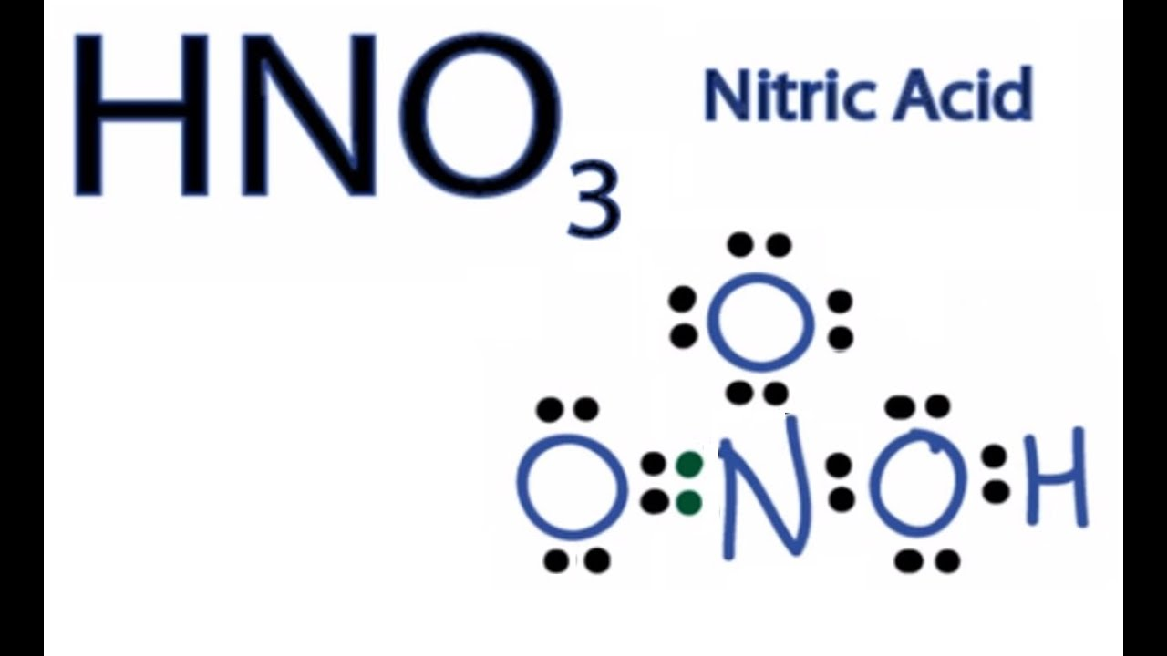 medium resolution of hno3 lewis structure how to draw the lewis structure for hno3
