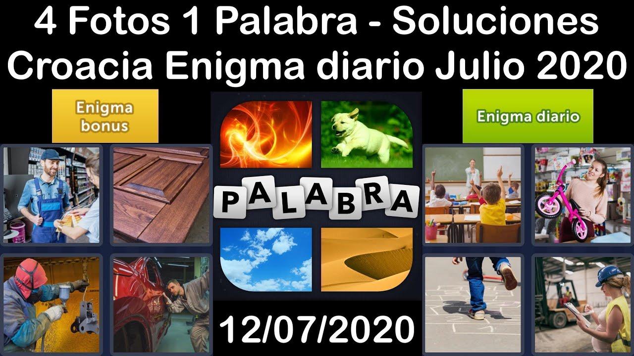 4 Fotos 1 Palabra - Croacia - 12/07/2020 - Julio 2020 - Enigma diario + Enigma bonus - Solucion