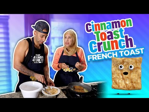 Making Cinnamon Toast Crunch French Toast!