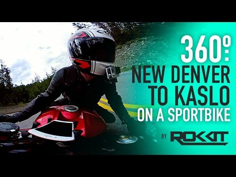 360º - New Denver to Kaslo on a Sport Bike