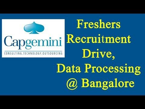 Capgemini Freshers Recruitment Drive | Data Processing @ Bangalore