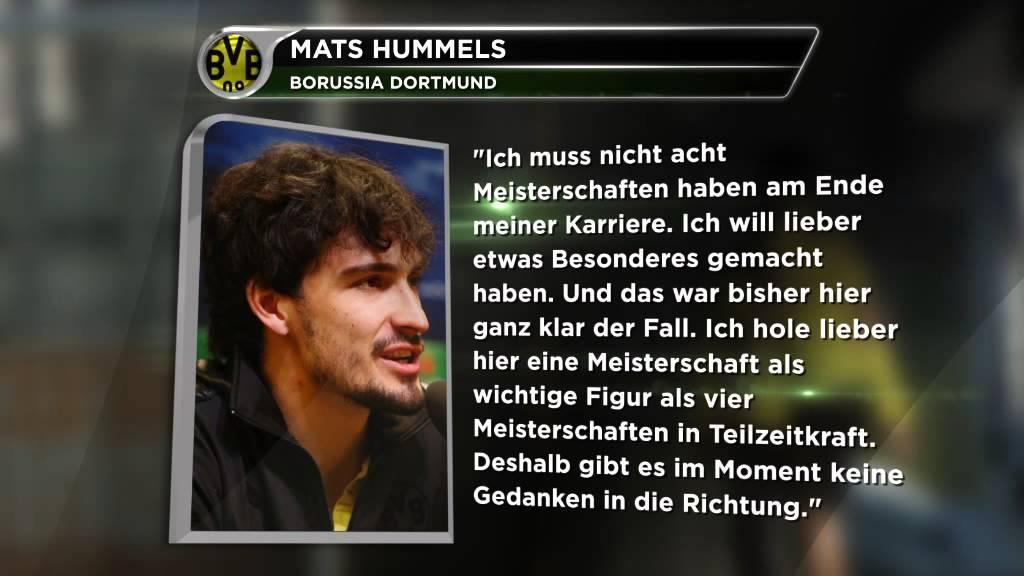 "Mats Hummels: ""Muss nicht acht Mal Meister werden"" | Verteidiger will bei Borussia Dortmund bleiben"