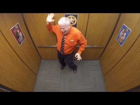 Sheriff's Deputy Gets Caught Dancing in the Office Elevator