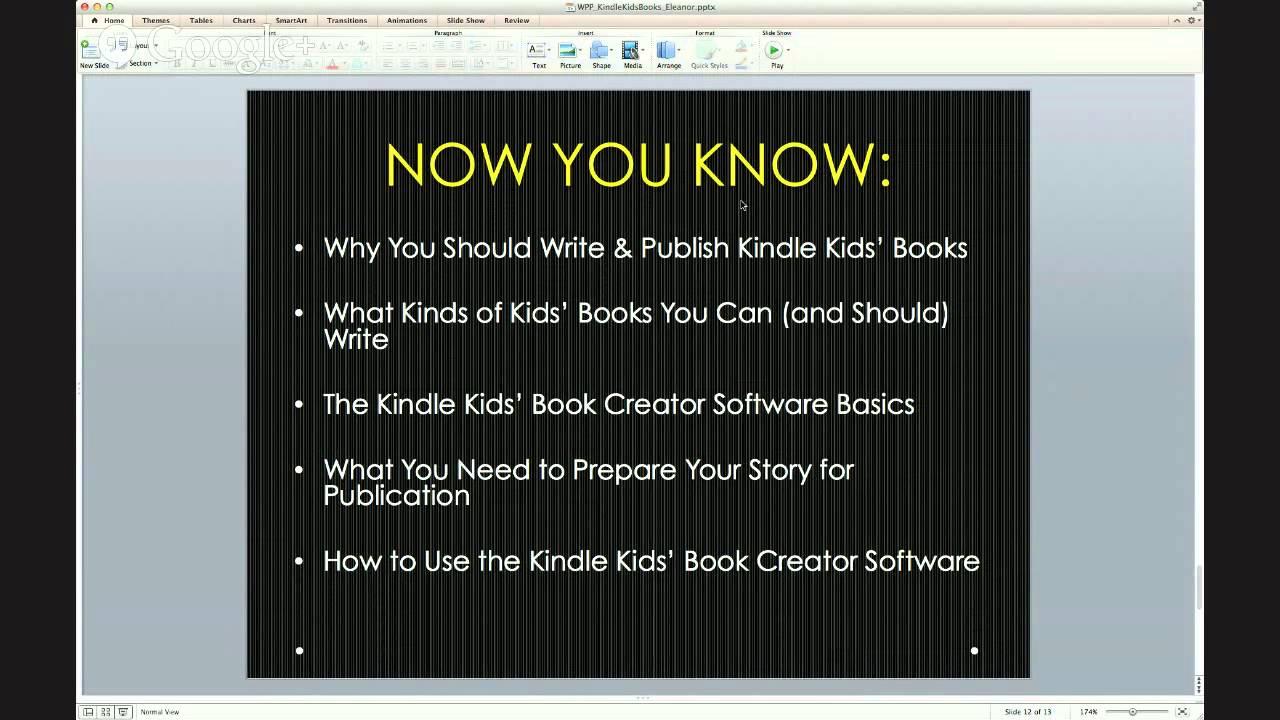 How to write kids