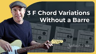3 Ways of Plaỳing the F Chord Without a Barre