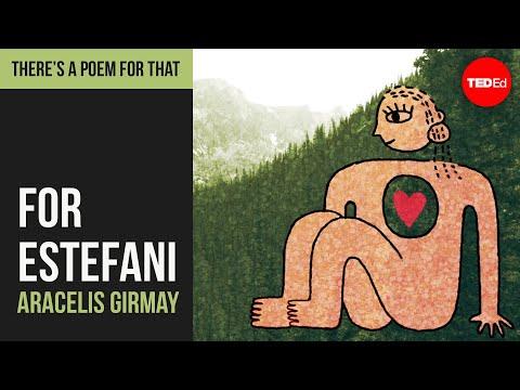 "Video image: ""For Estefani, Third Grade, Who Made Me A Card"" by Aracelis Girmay"