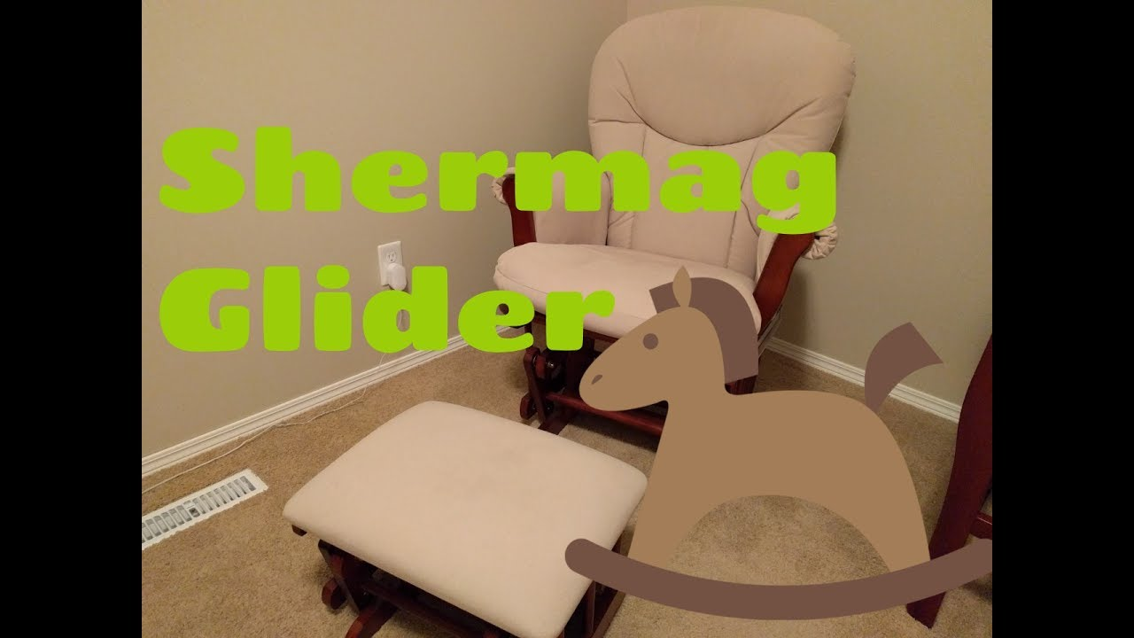Shermag Glider Chair Ottoman Baby Rocking Chair Baby Room Nursery