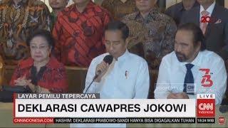 Akhirnya Jokowi Deklarasikan KH Ma'ruf Amin Jadi Cawapres!!