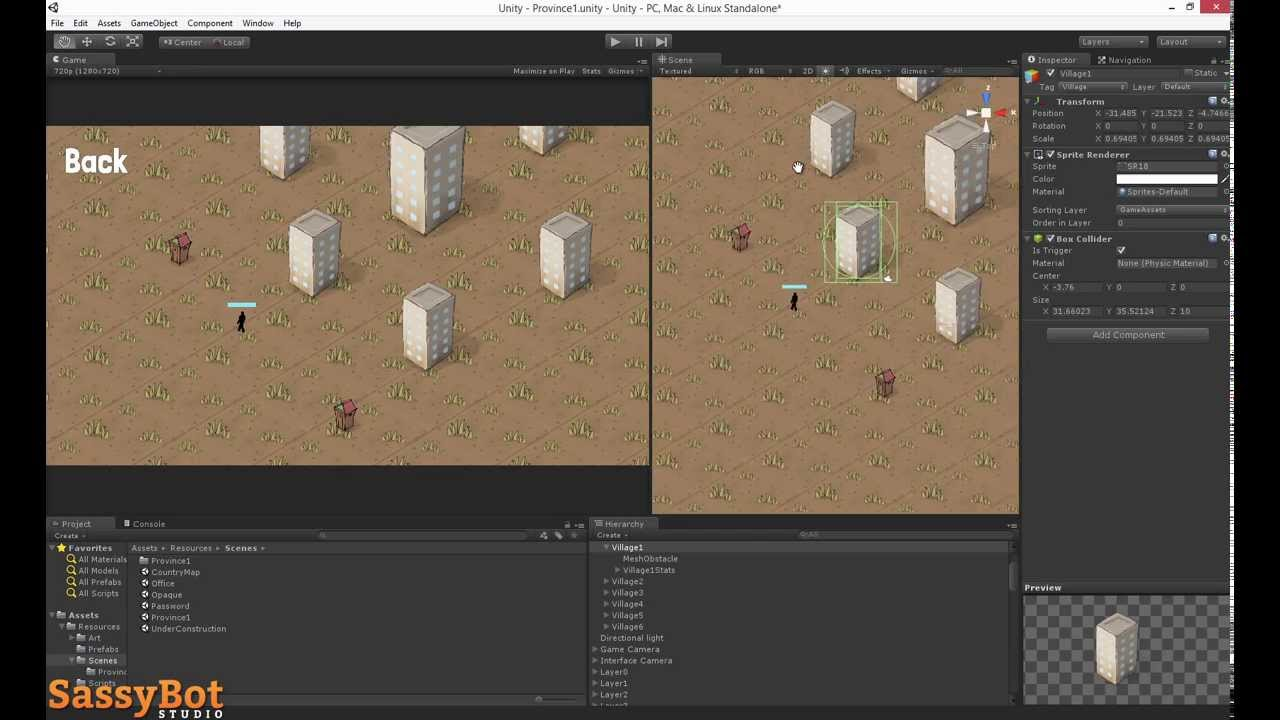 how to create a 2d gme unity