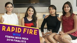 Rapid Fire With Miss India 2018 Finalists | Part 1 | POP Diaries Exclusive