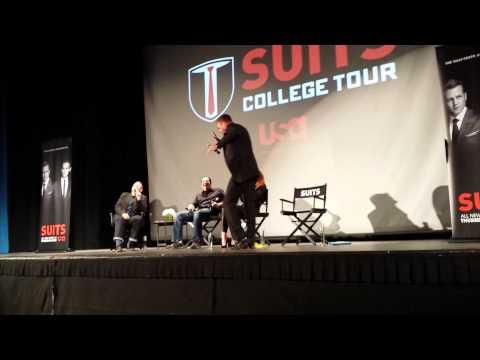 Suits College Tour @ UCLA  Gabriel Macht Dancing