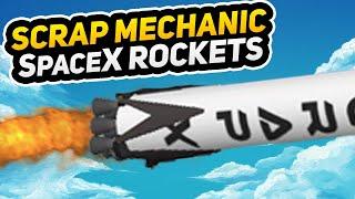 AUTO LANDING ROCKETS! (Scrap Mechanic Gameplay)