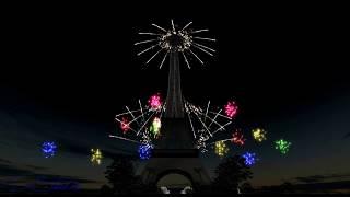 Showsim 3D - Feu d'artifice Paris tour Eiffel - D-Studio -