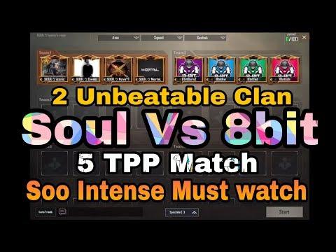 #PUBG #MortaL #Soul #8bit 5 TPP Soul Vs 8bit Clan || Match In Custom Room || Shaktimaan Gaming