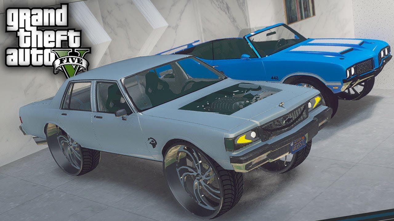 GTA 5 Real Hood Life #110 Franklins Crazy Sky Blue Hellcat Box!! (GTA 5 Hood Life Mods)