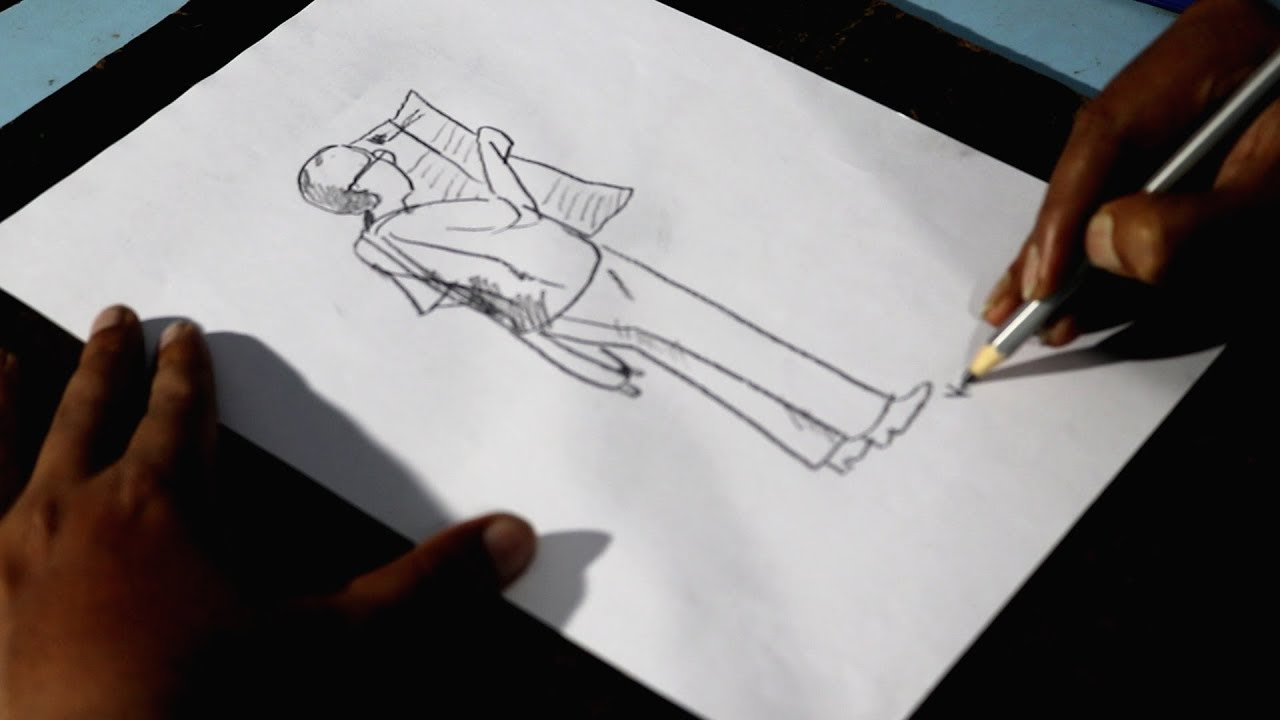 How To Draw A Male Figure Reading News Paper Youtube