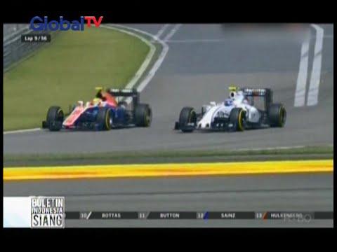 Aksi Rio Haryanto di Grand Prix F1 Shanghai, Tiongkok - BIS 18/04