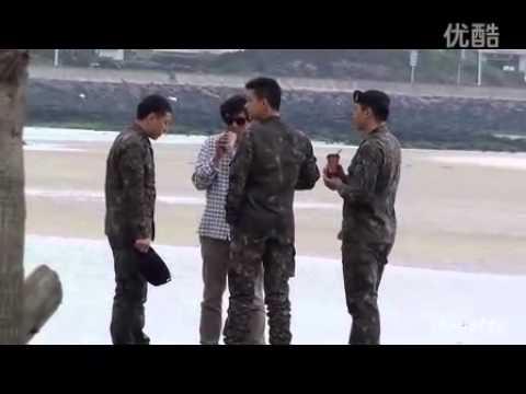 Im Ju Hwan in the military - On the beach
