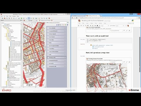 Emme 4.2 - Model workflow with Emme Notebook