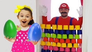 ÖYKÜ OYUN PEŞİNDE Kid Play With Colored and Egg, Learn Colors With