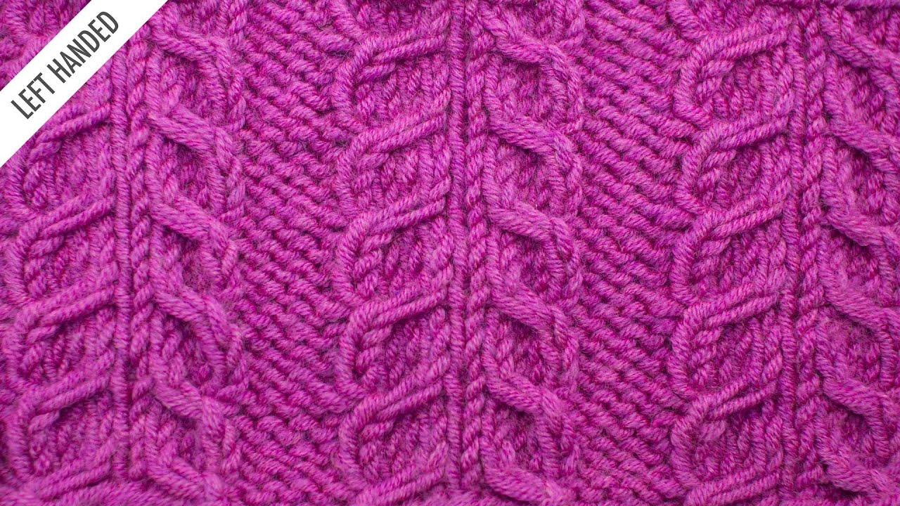The Inverted Gull Cable Panel Stitch :: Knitting Stitch #522 :: Left Handed -...