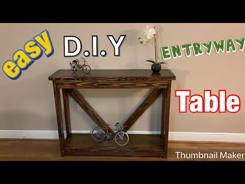 DIY Console Table/Entry Way Table Just Under $30