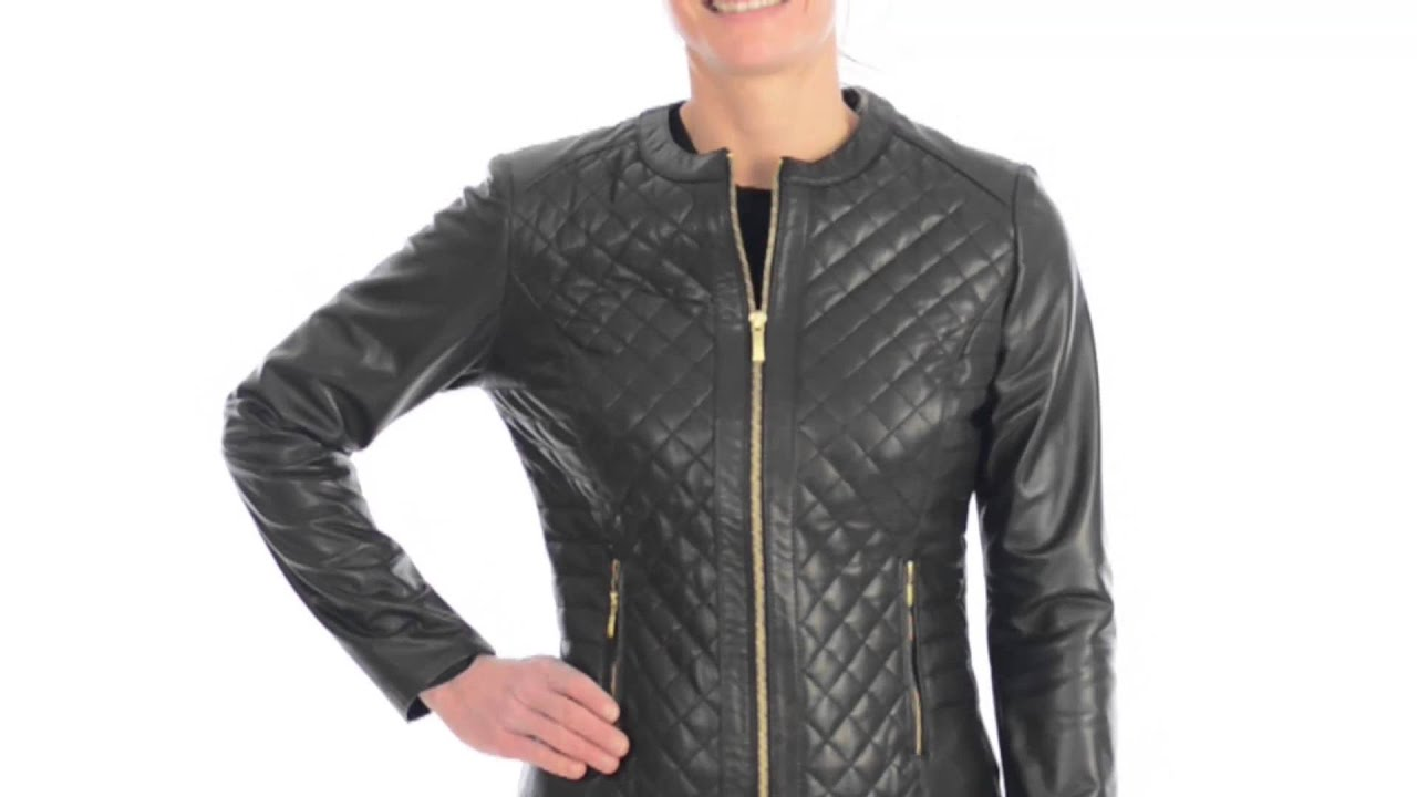 Cole Haan Quilted Lambskin Jacket For Women Youtube