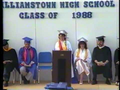 Williamstown High Class 1988-NJ-Part 1-The whole hour long ceremony-By John S Christopher