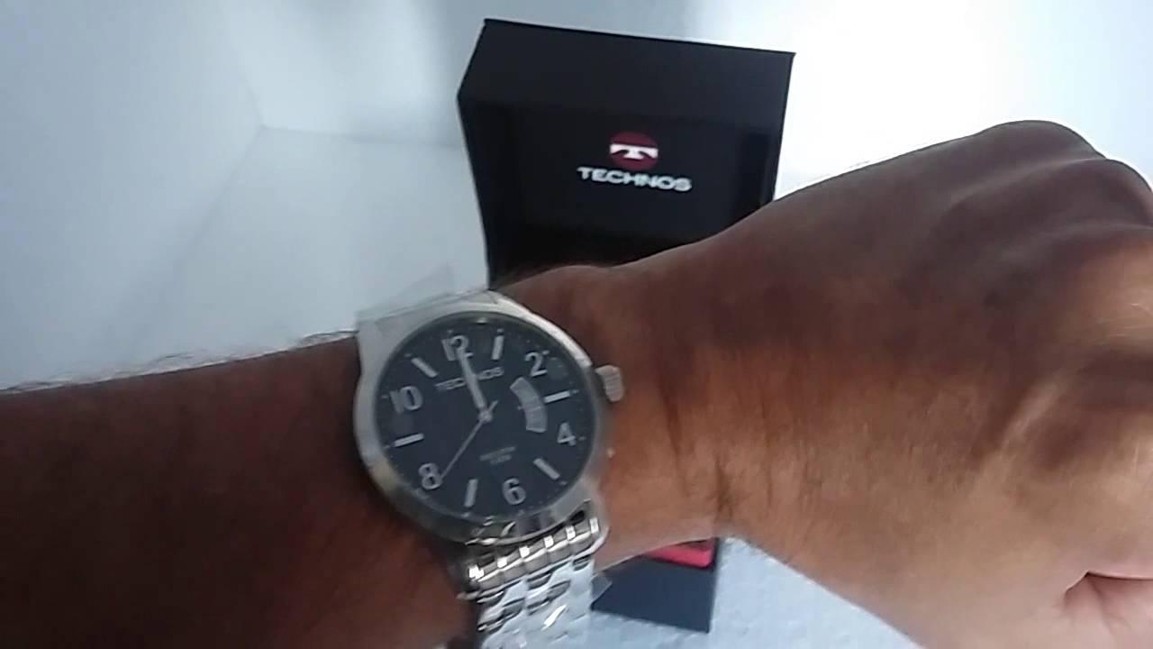 512e85a8503 Relógio Masculino Technos Analógico 2115KRC 1C Executive Prata - YouTube