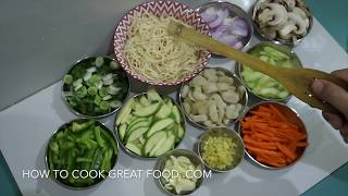 Vegetable Chow Mein Recipe - Vegan Chinese Noodles ( Lo Mein )