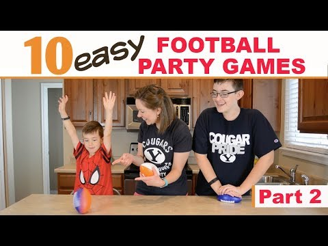 10 Best Football Party Games (Part 2) | Family Fun Every Day