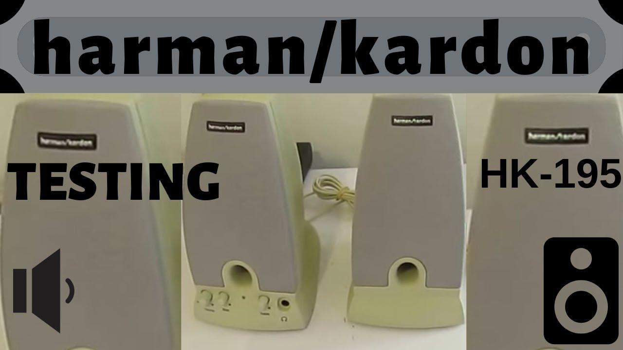 harman kardon desktop speakers. harman kardon hk-195 powered multimedia speakers test functions desktop p